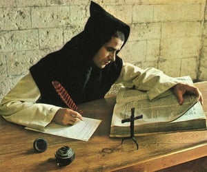 bible, monk, and study image