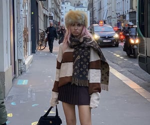 paris, everyday look, and black pleated skirt image
