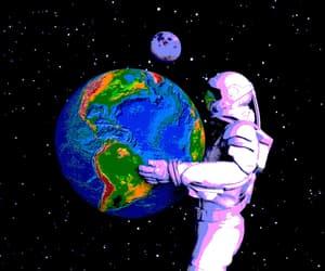 aesthetic, astronaut, and gif image