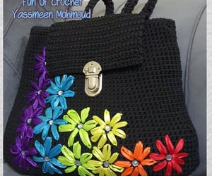 backpack, bag, and crochet image