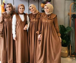 dress, fashion, and hijab image