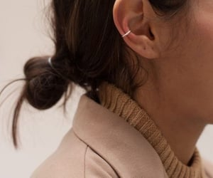 brown, earing, and style image