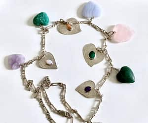 etsy, heart necklace, and heart jewelry image