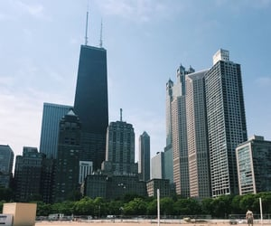 chicago, city, and skyscraper image
