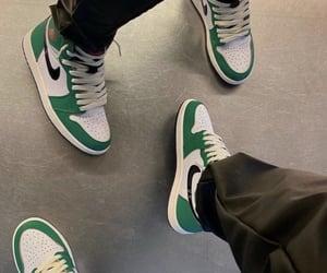 air, jordan, and green image