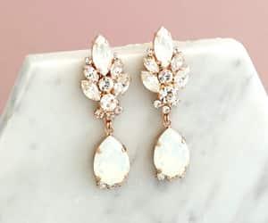 etsy, swarovski earrings, and long earrings image