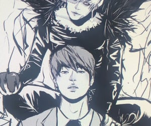 death note, yoongi, and bts image