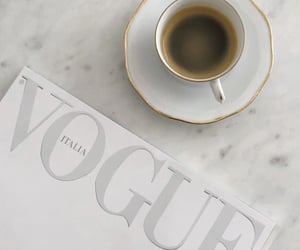 coffee, vogue, and drink image