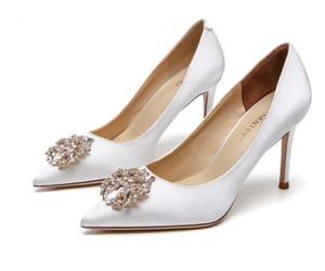 elegant, stiletto heels, and pointed toe image