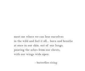 poetry, wild quotes, and butterflies rising image
