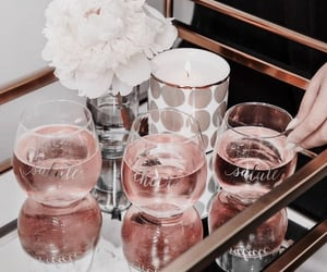 rose gold, aesthetic, and flowers image