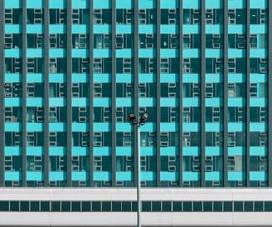 architecture, teal, and turquoise image