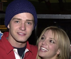 britney spears, justin timberlake, and y2k image