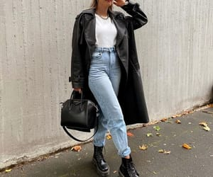 coat, trench, and street style image