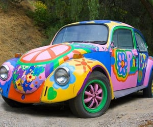automobiles, cars, and hippie image