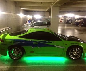 green, neon, and automobiles image