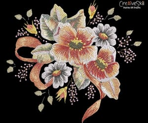 floral embroidery, flower embroidery, and floral day image