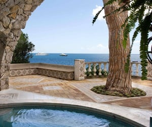 pool, ocean, and summer image