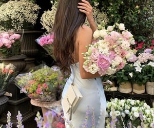 flowers, aesthetic, and woman image
