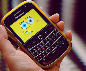 blackberry, spongebob, and yellow image