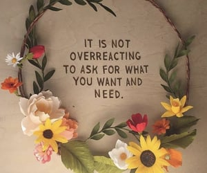 aesthetic, flower crown, and quote image