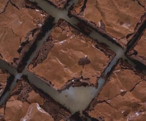 food, brownies, and chocolate image