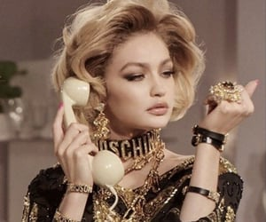 aesthetic, gold, and gigi hadid image