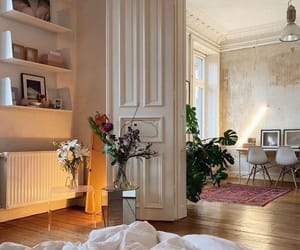interior, bedroom, and plants image