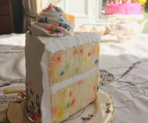 birthday cake, dessert, and food image