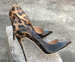 black, high heels, and elegant image