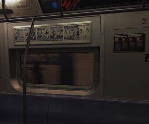 aesthetic, train, and dark image