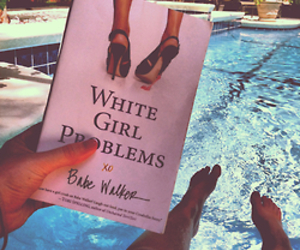 girl, book, and problems image