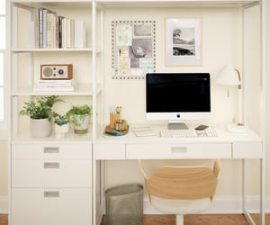 home office, office desk, and home improvement image