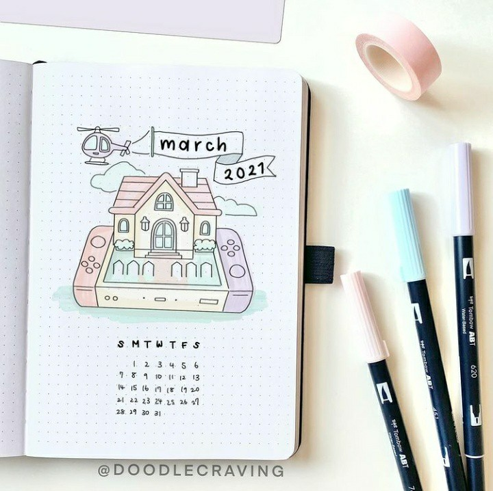 calendar, inspiration, and march image