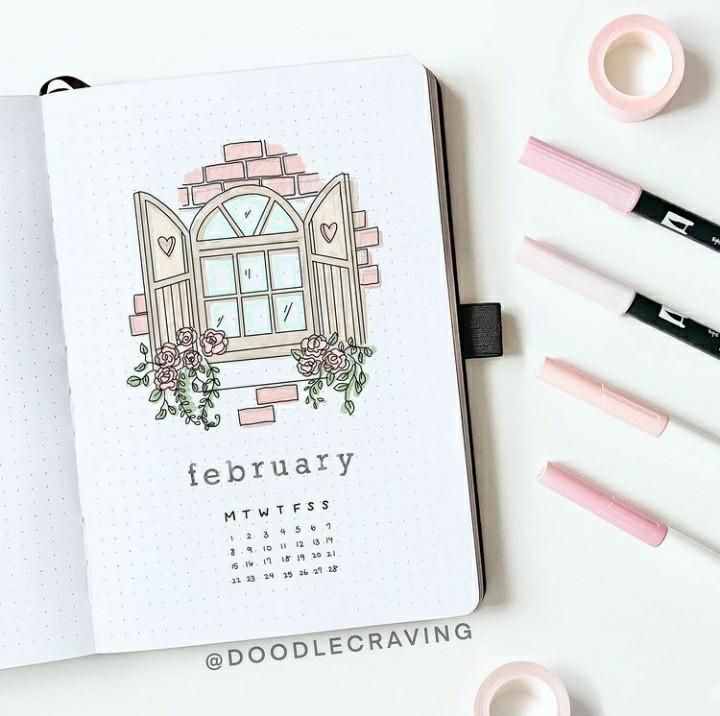 calendar, february, and inspiration image