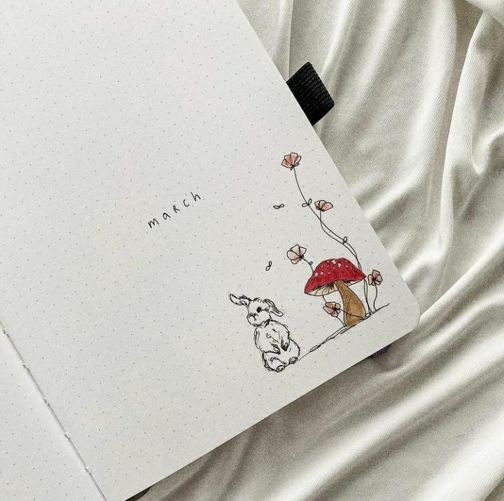 bunny, calendar, and inspiration image