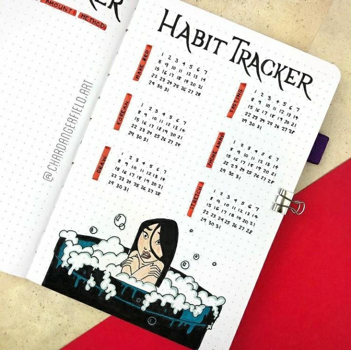 calendar, tracker, and bullet journal image