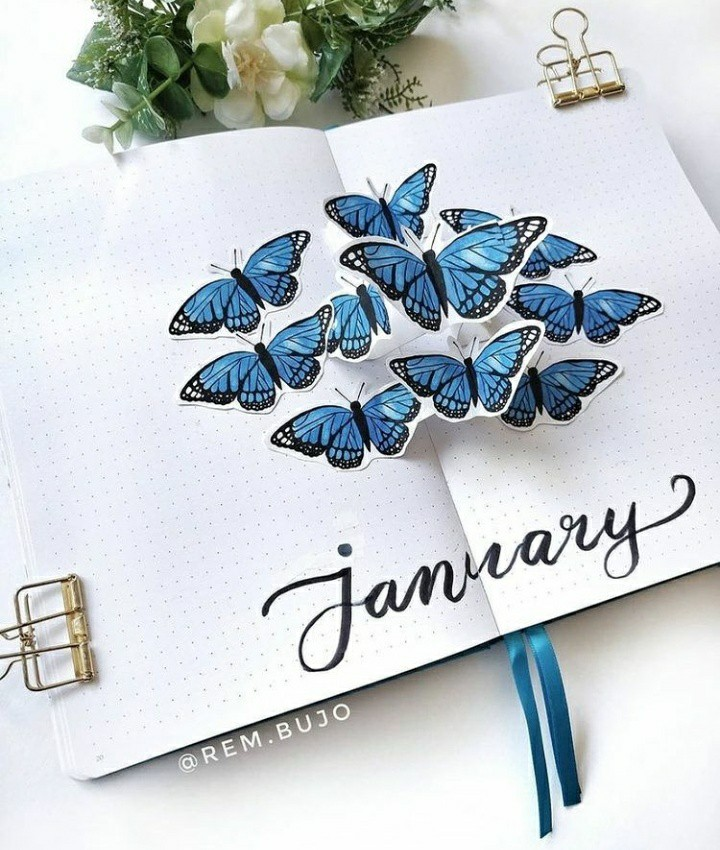 butterfly, inspiration, and planner image
