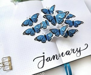 butterfly, planner, and calendar image