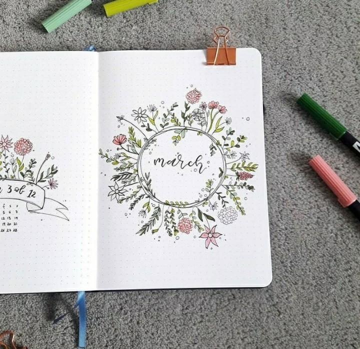 calendar, floral, and inspiration image