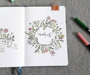 calendar, floral, and inspiration image