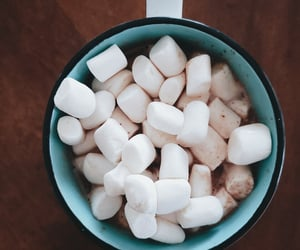 marshmallows, photography, and hot chocolate image