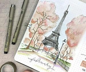calendar, inspiration, and paris image