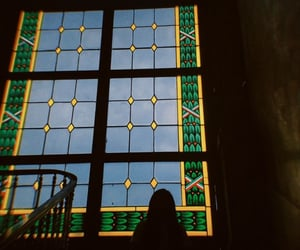 blue, green, and window image