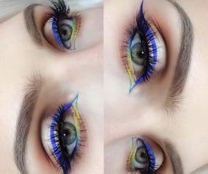 blue, eyeliner, and make up image