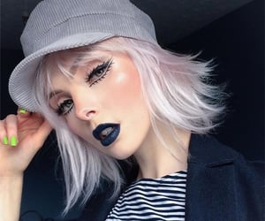black, look, and make up image