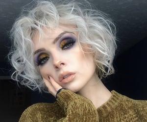 blue, creative, and eyeshadow image