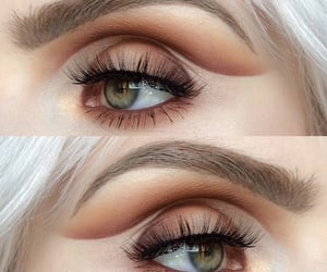 brown, look, and make up image