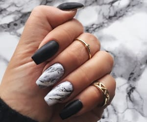 black, nailart, and fashion image