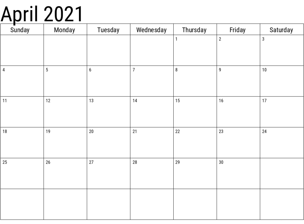 article and april 2021 calendar image
